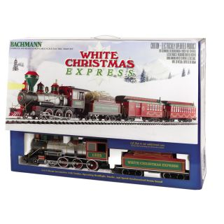 bachmann g scale white christmas large train set product description