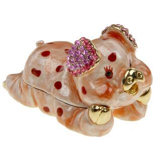 Swarovski Crystal Love Pig Trinket Box Collectable N R