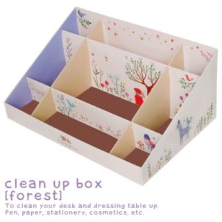 Korea Monopoly Clean Up Box Shelf Forest Wild Animals