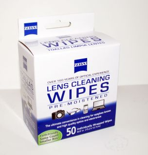 Zeiss Lens Cleaning Wipes 50 PC Pre Moistened for Eyeglass Lenses