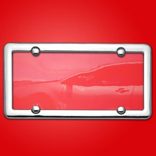 Plastic License Plate Shield Frame Bug Cover Tag Protector Chrome