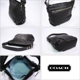 Coach Leather Duffle Shoulder Crossbody Bag Tote $358 Black F15064 New
