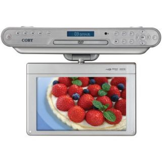 Coby 10 Under Cabinet DVD CD Digital TV Player Sil New
