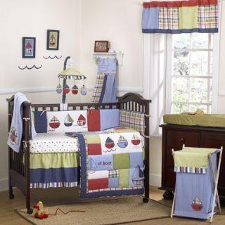 CoCaLo TUG BOAT 13 piece Crib Bedding Set Blanket Wall Art HAMPER