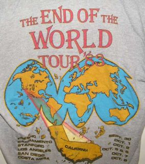 of The World Tour T Shirt Sz L Coalinga California 6 5 Quake