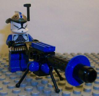 Lego Star Wars Clone Wars Custom Captain Rex Clone Gunner & E Web