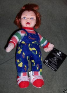 Chuckie Chucky Childs Play Plush Doll NEW Goth Horror Halloween Prop