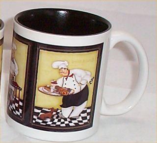 Chef Bistro Ceramic Coffee Mug Kitchen Mugs Black chefs Colored Tone