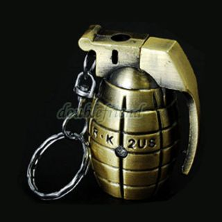 Humour Hand Grenade w Keychain Cigar Cigarette Lighters