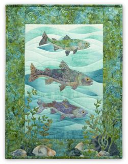 Art Quilt Pattern Naturally McKenna Swim Team Pine Needles McKenna