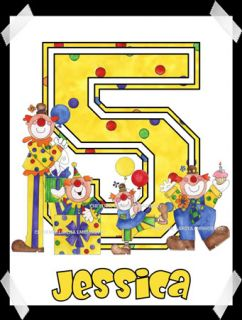 Circus Clowns Personalized Printed Birthday etc Shirt