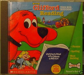 Clifford The Big Red Dog Reading Software Ages 4 6 CD 078073679768