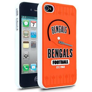 iPhone 4 4s CINCINNATI BENGALS Faceplate Protective Hard Case Cover