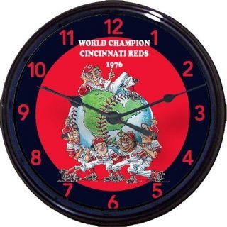 CINCINNATI REDS 1976 WORLD SERIES CLOCK PETE ROSE JOHN BENCH SPARKY