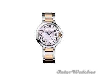 Cartier Ballon Bleu Mid Size Steel & 18K Pink Gold Automatic Watch