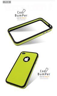 iPhone 4 4S Mobc Codi Bumper Case Full Body Skin Color Screen