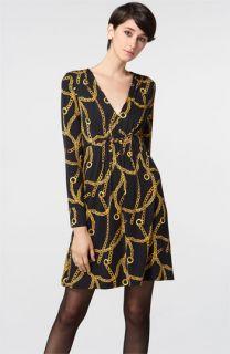 Milly Lindy Chain Print Silk Jersey Dress