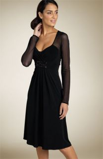 Donna Ricco Beaded Illusion Dress