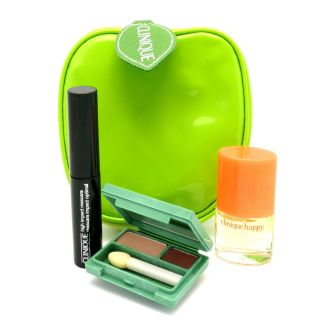 Clinique Happy Perfume Mascara Eye Shadow Apple Bag Set