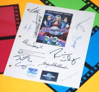 Galaxy Quest Signed Script rpt Tim Allen Sigourney Weaver Alan Rickman