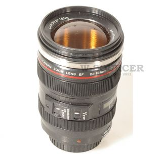 Coffee Mug Camera Lens Canon EF 24 105M F 4 Cup Brown