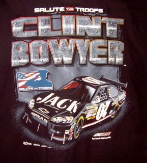 CHASE TEE T SHIRT 07 JACK DANIELS CLINT BOWYER SALUTE THE TROOPS EXTRA
