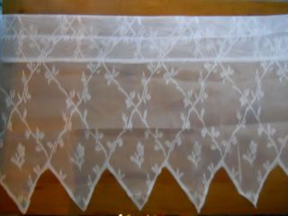 New 56 Window Curtain Valance White Diamond Point Lace