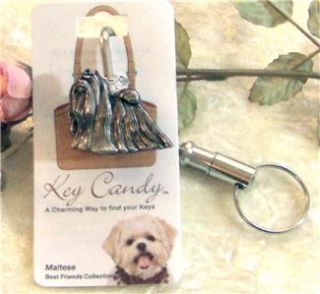 Maltese Dog Best Friend Key Locator Finder Purse Hook