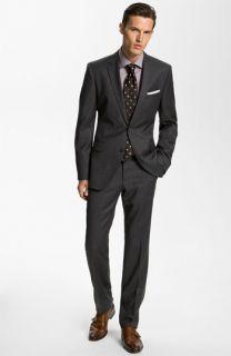 BOSS Black Suit, Dress Shirt, & Tie