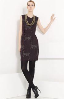 Lanvin Cat & Logo Print Washed Silk Dress