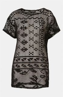 Topshop Magnified Doily Lace Tee