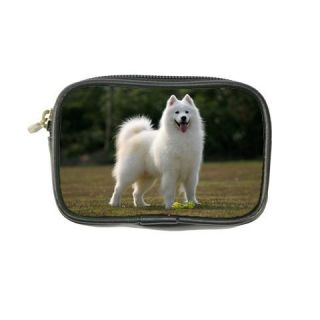 Samoyed Dog Puppies Leather Coin Purse Wallet Bags New