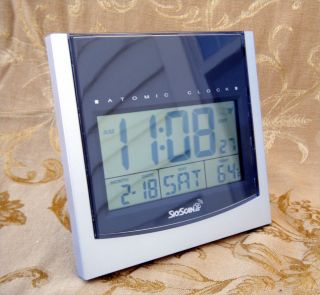 SkyScan Digital Atomic Clock Model 86742 Indoor Temperature Wall or