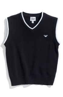 Armani Junior Sweater Vest (Big Boys)