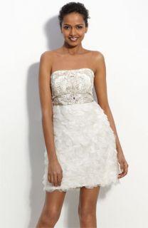 Sue Wong Organza Petal Sheath Dress