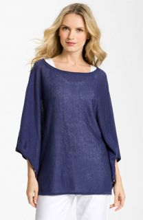 Eileen Fisher Boatneck Linen Top