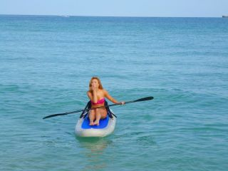 Saturn Inflatable Stand Up Paddle Board Isup Sit on Top Kayak