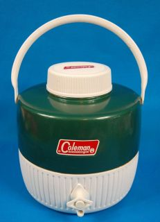 VINTAGE COLEMAN SNOW LITE WATER JUG COOLER 1 GALLON W CUP INSERT