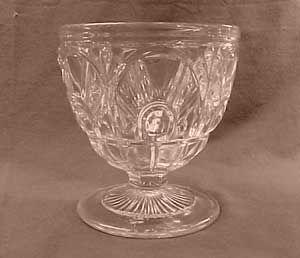 Gothic Flint Early American Pattern Glass Buttermilk Goblet or Open