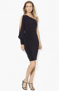Lauren Ralph Lauren One Shoulder Jersey Dress