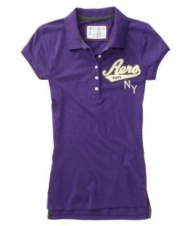 Womens Aeropostale Aero College Jersey Polo Shirt