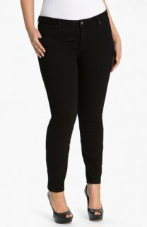 Lucky Brand Ginger Black Skinny Jeans (Plus)