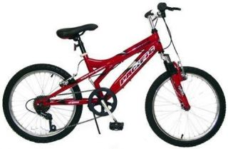 Boys Red Coke Coca Cola Off Road 20 inch Mountain Bike Bicycle
