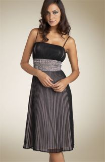 JS Collections Pleated Bead Waist Dress