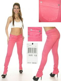 Puzzle Clothing Super Stretch Colored Skinny Jeans Multiple Colors