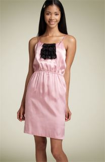 Velvet Torch Satin & Lace Dress (Juniors)