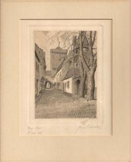 Franz Bender Noted German Artist Orig Signed Etching