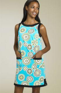Maggy London Printed Sateen Shift Dress