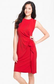 Calvin Klein Side Ruffle Jersey Sheath Dress