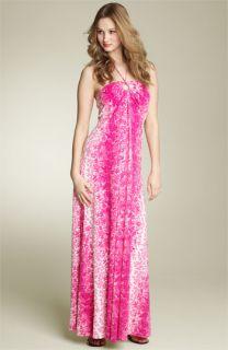 Maggy London Ombré Leaf Print Maxi Dress